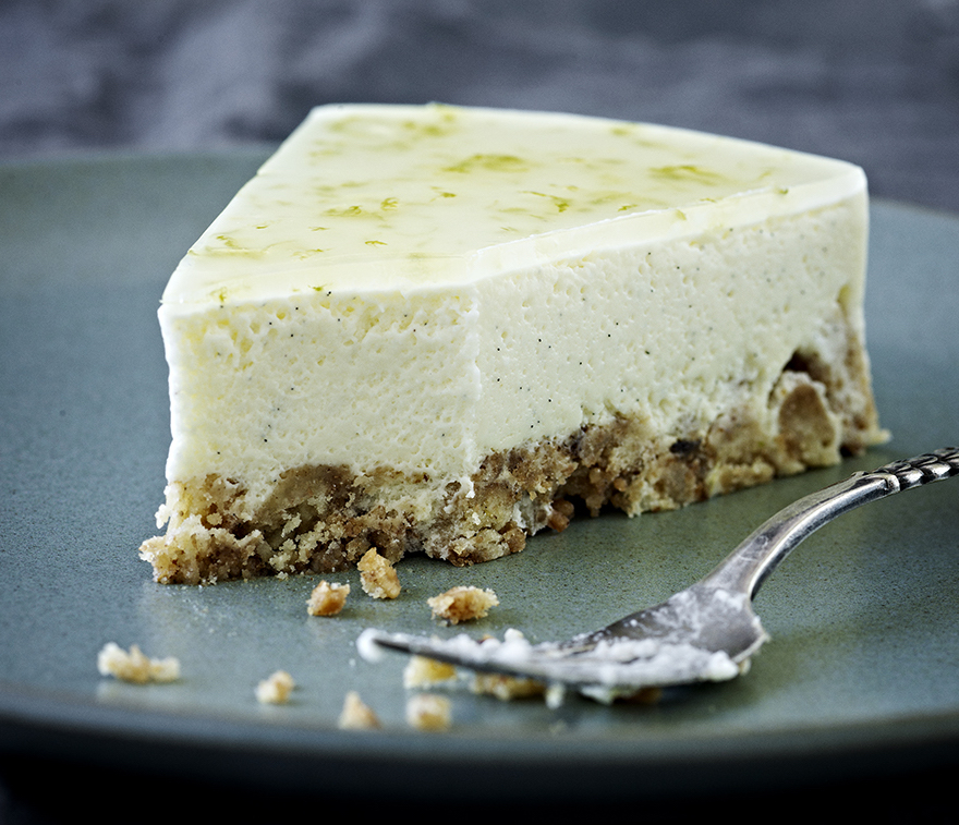 cheesecake med lime
